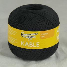 Пряжа Семеновская Кабле - 30001 черный_х1, Цвет: 30001 черный_х1