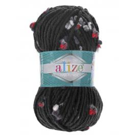 Пряжа Alize Maxi Flower - 5219 маренго белый/красн, Цвет: 5219 маренго белый/красн