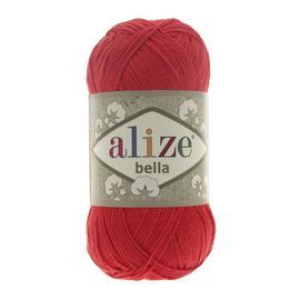 Пряжа Alize Bella 100 - красный 56, Цвет: красный 56