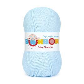 Пряжа Nako Bonbon Baby Shimmer - 98907 голубой, Цвет: 98907 голубой