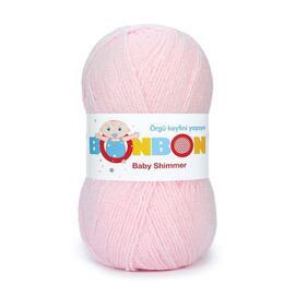 Пряжа Nako Bonbon Baby Shimmer - 98703 розовый, Цвет: 98703 розовый