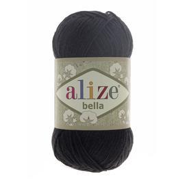 Пряжа Alize Bella 100 - черный 60, Цвет: черный 60