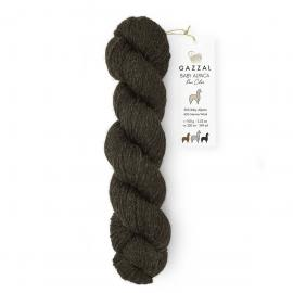 Пряжа Gazzal Baby Alpaca Pure Color - 6457 тем.коричневый, Цвет: 6457