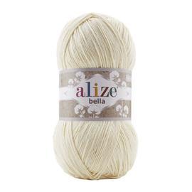 Пряжа Alize Bella 100 - молочный 01, Цвет: молочный 01