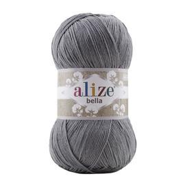Пряжа Alize Bella 100 - угольно-серый 87, Цвет: угольно-серый 87