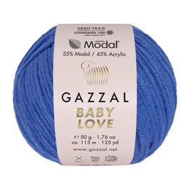 Пряжа Gazzal Baby Love-GZ - 1636 синий, Цвет: 1636