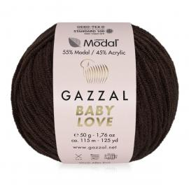 Пряжа Gazzal Baby Love-GZ - 1635 коричневый, Цвет: 1635