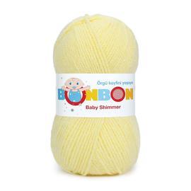 Пряжа Nako Bonbon Baby Shimmer - 98905 св.желтый, Цвет: 98905 св.желтый