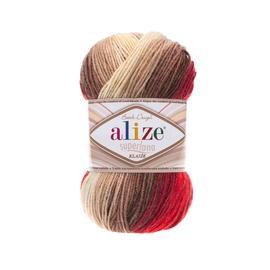 Пряжа Alize Superlana Klasik Batik - 4574 мальва/беж, Цвет: 4574 мальва/беж