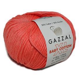 Пряжа Gazzal Baby Cotton XL - 3460 коралловый, Цвет: 3460 коралловый