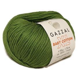 Пряжа Gazzal Baby Cotton XL - 3449 зелень, Цвет: 3449 зелень
