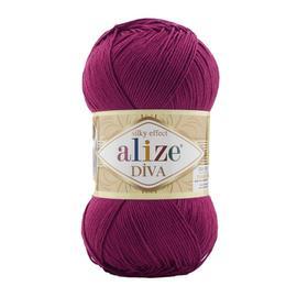 Пряжа Alize Diva - 326 тем.фуксия, Цвет: 326 тем.фуксия