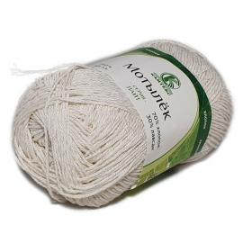 Пряжа Камтекс Мотылек - 205 белый, Цвет: 205 белый