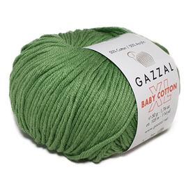 Пряжа Gazzal Baby Cotton XL - 3448 салат, Цвет: 3448 салат