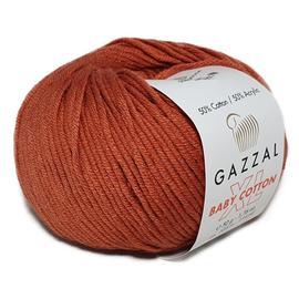 Пряжа Gazzal Baby Cotton XL - 3454 терракот, Цвет: 3454 терракот