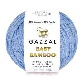 Пряжа Gazzal Baby Bamboo - 95201 голубой, Цвет: 95201 голубой