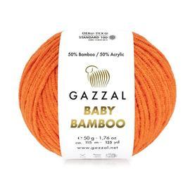 Пряжа Gazzal Baby Bamboo - 95202 оранжевый, Цвет: 95202 оранжевый
