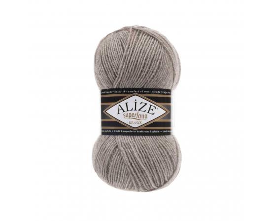 Пряжа ALIZE SUPERLANA KLASIK 373 св.коричневый, Цвет: 373 св.коричневый