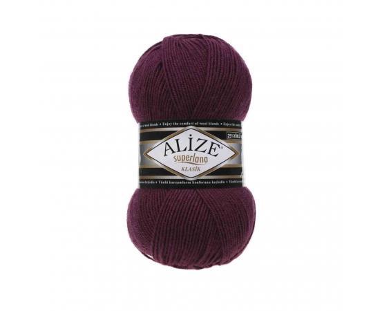 Пряжа ALIZE SUPERLANA KLASIK 307 п.вишня, Цвет: 307 п.вишня