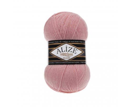 Пряжа ALIZE SUPERLANA KLASIK 363 неж.розовый, Цвет: 363 неж.розовый