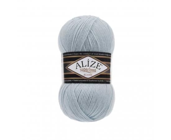 Пряжа ALIZE SUPERLANA KLASIK 514 бл.голубой, Цвет: 514 бл.голубой