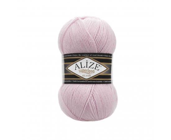 Пряжа ALIZE SUPERLANA KLASIK 518 светло-розовый, Цвет: 518 светло-розовый