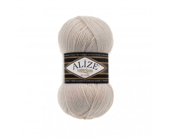 Пряжа ALIZE SUPERLANA KLASIK 599 слоновая кость, Цвет: 599 слоновая кость