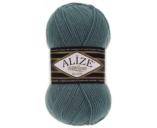 Пряжа ALIZE SUPERLANA KLASIK 164 лазурный, Цвет: 164 лазурный
