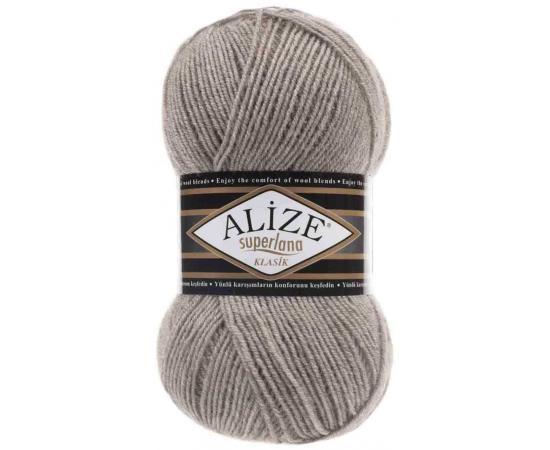 Пряжа ALIZE SUPERLANA KLASIK 207 св.коричневый, Цвет: 207 св.коричневый