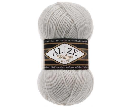 Пряжа ALIZE SUPERLANA KLASIK 208 светло-серый, Цвет: 208 светло-серый