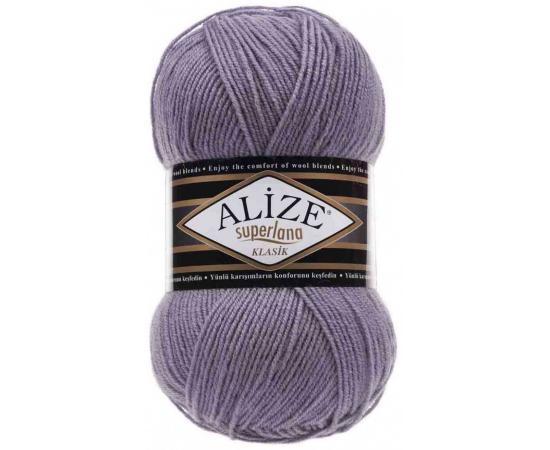 Пряжа ALIZE SUPERLANA KLASIK 257 лаванда, Цвет: 257 лаванда