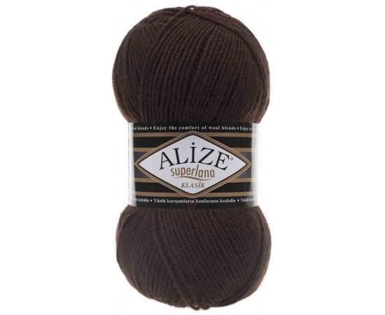 Пряжа ALIZE SUPERLANA KLASIK 26 коричневый, Цвет: 26 коричневый