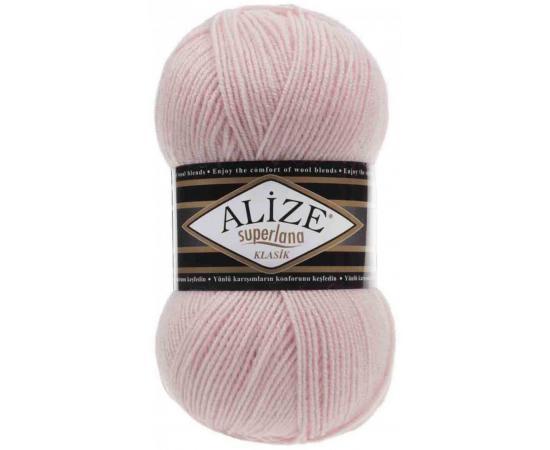 Пряжа ALIZE SUPERLANA KLASIK 271 жемчужно-розовый, Цвет: 271 жемчужно-розовый