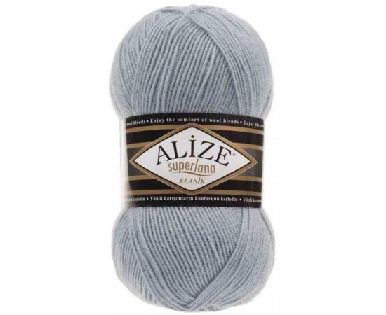 Пряжа ALIZE SUPERLANA KLASIK 480 св.голубой, Цвет: 480 св.голубой