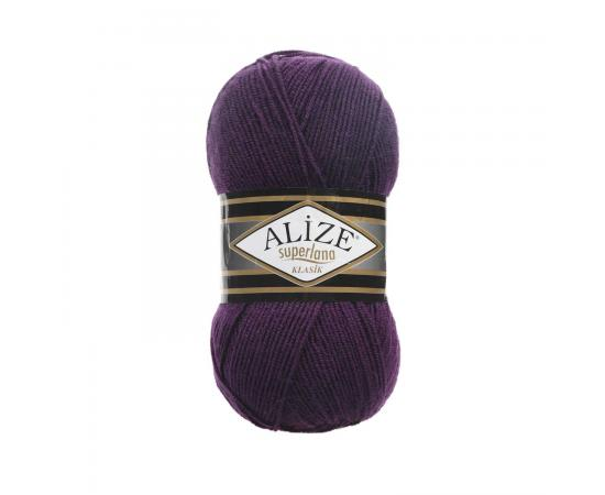 Пряжа ALIZE SUPERLANA KLASIK 388 пурпурный, Цвет: 388 пурпурный