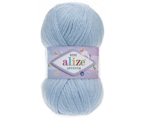 Пряжа ALIZE SEKERİM BEBE 183 бл.голубой, Цвет: 183 бл.голубой