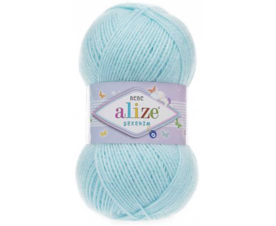 Пряжа ALIZE SEKERİM BEBE 189 св.голубой, Цвет: 189 св.голубой