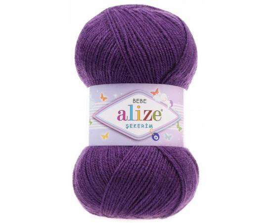 Пряжа ALIZE SEKERIM BEBE 44 т.фиолет, Цвет: 44 т.фиолет