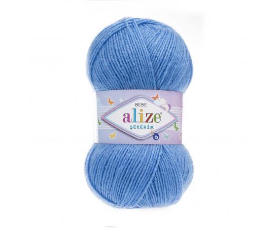 Пряжа ALIZE SEKERIM BEBE 289 голубой, Цвет: 289 голубой