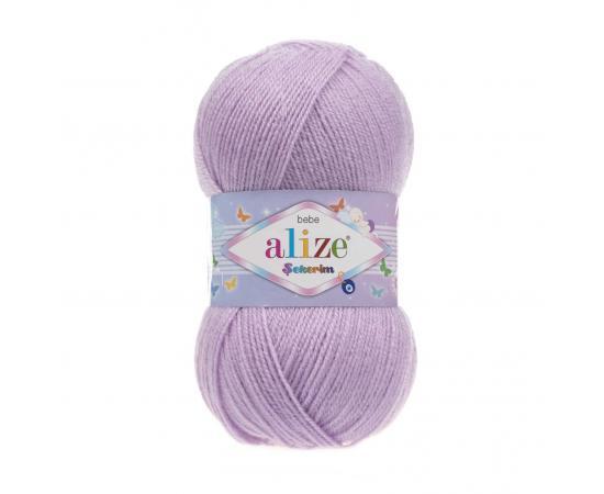 Пряжа ALIZE SEKERIM BEBE 27 лиловый, Цвет: 27 лиловый