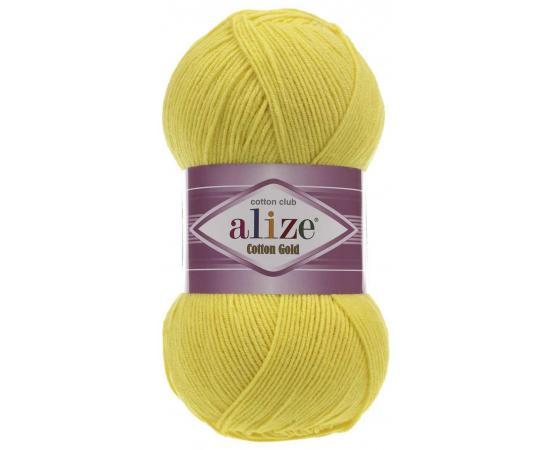 Пряжа ALIZE COTTON GOLD 110 желтый, Цвет: 110 желтый