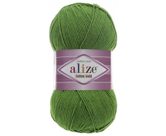 Пряжа ALIZE COTTON GOLD 126 трава, Цвет: 126 трава