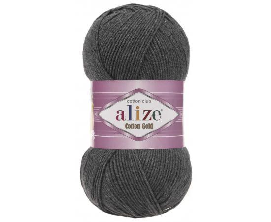 Пряжа ALIZE COTTON GOLD 182 темно-серый меланж, Цвет: 182 темно-серый меланж