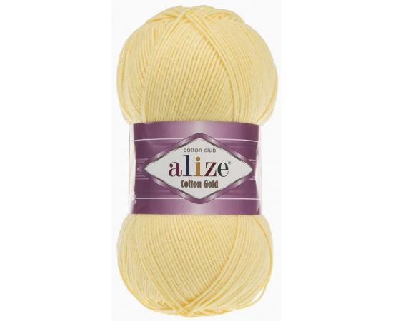Пряжа ALIZE COTTON GOLD 187 св.лимон, Цвет: 187 св.лимон