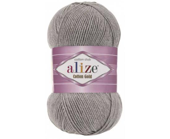 Пряжа ALIZE COTTON GOLD 21 серый, Цвет: 21 серый