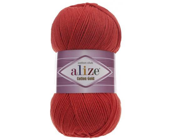 Пряжа ALIZE COTTON GOLD 243 красный, Цвет: 243 красный