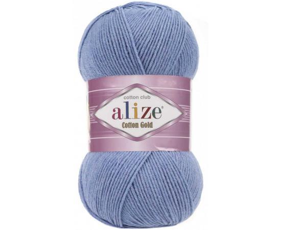 Пряжа ALIZE COTTON GOLD 374 т.голубой меланж, Цвет: 374 т.голубой меланж