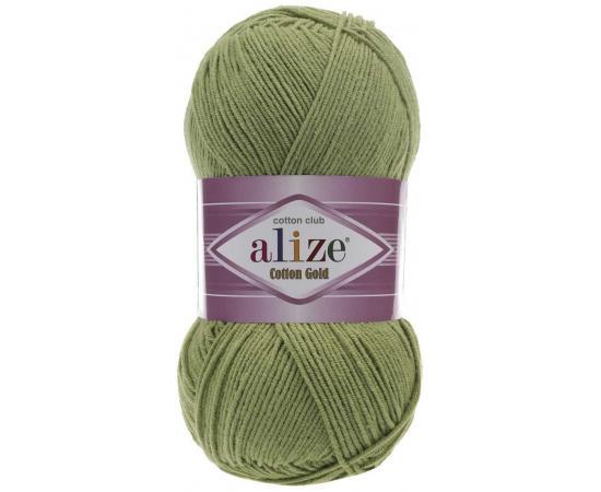 Пряжа ALIZE COTTON GOLD 385 зеленый, Цвет: 385 зеленый