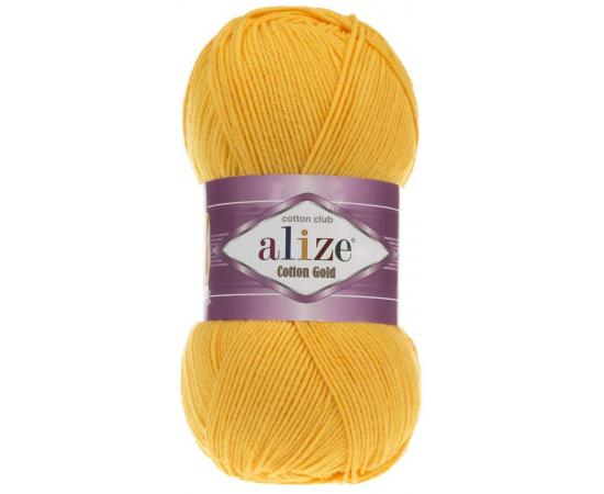 Пряжа ALIZE COTTON GOLD 216 тем.желтый, Цвет: 216 тем.желтый