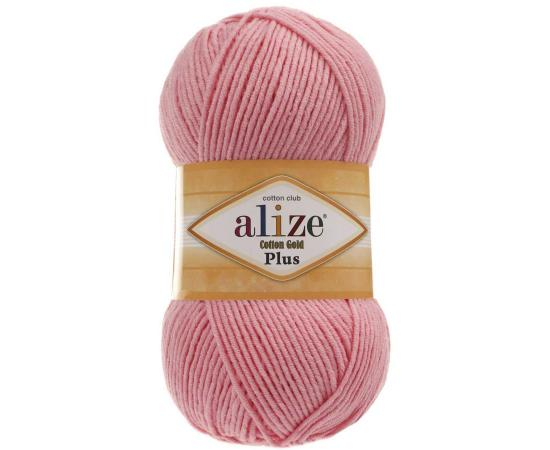Пряжа ALIZE COTTON GOLD PLUS 170 розовый, Цвет: 170 розовый